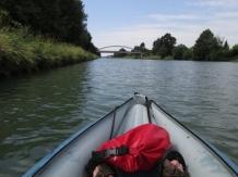 Auf dem Kanal