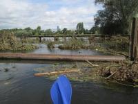 Blick auf den Ölper See nach dem Hochwasser
