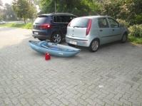 Auf dem Parkplatz am Einstieg