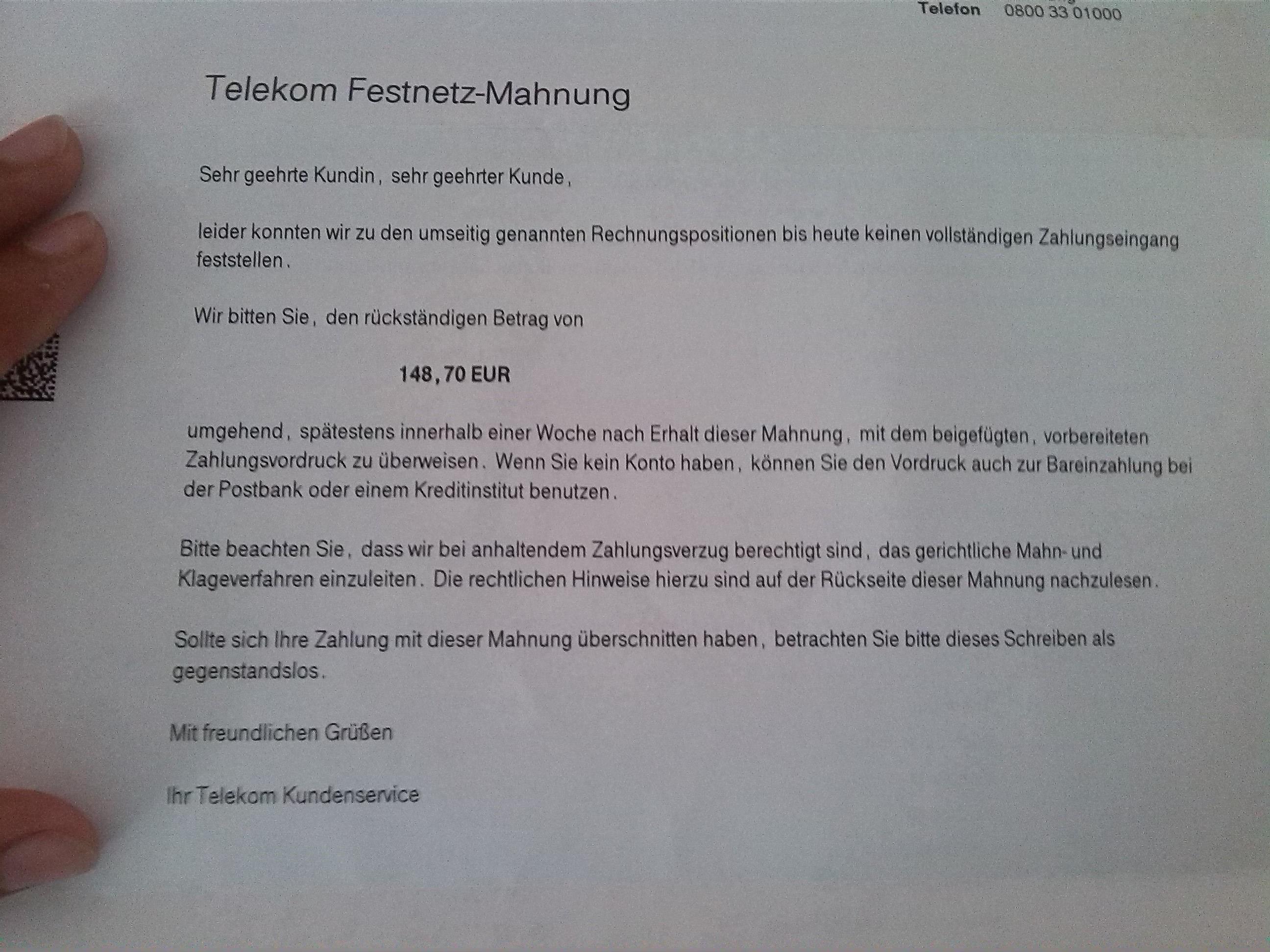 Neuer Spaß Mit Der Telekom Rainerseiner