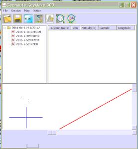 Screenshot, erstellt beim Auslesen der Daten aus dem Tracker