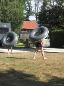 Schwimmhilfenträger