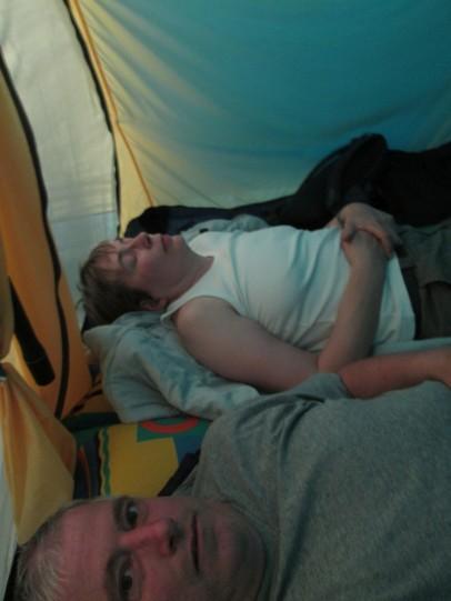 Unwetter im Zelt