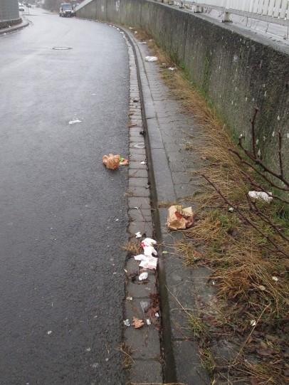 Auffahrt zur Entladung einer Müllkippe? Oder doch die Broitzemer Straße?